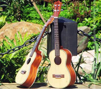 Wholesale HNNKNN Ukulele Solid Spruce Top with Ablone Binding Concert Tenor on Stock