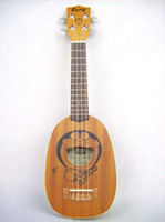 Wholesale Doraemon Style Hawaii Ukulele Pineapple Size with Aquila String Free Black Bag