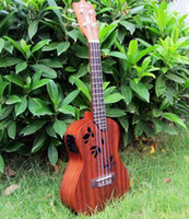 Wholesale Hanknn Concert Ukulele Flower Sound Hole with Two Band Pickup Christmas Ukulele