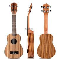 Wholesale 21 quot Strings Zebrawood Concert Ukulele Homeland Laminated Acoustic Instrument