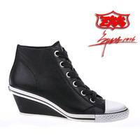 Ankle Boots ash wedge sneakers - Hot selling ash wedge sneakers women s shoes black lacing small wedges genuine leather