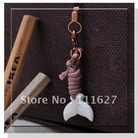 Universal carved ox bone - Ox bone carved pendant shark teeth phone charm pendant mobile Nice squishy buns wholes
