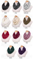 Wholesale 10 New Arrival Women Warm Knit Neck Circle Wool Cowl Snood Long Scarf Shawl Wrap