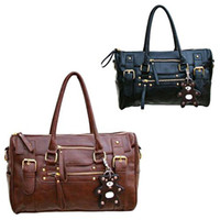 Wholesale New Fashion PU Leather Handbag Shoulder Messenger Satchel Bag For Women Black Brown BG