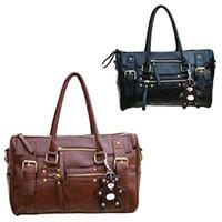 Plain bg fashion - New Fashion PU Leather Handbag Shoulder Messenger Satchel Bag For Women Black Brown BG
