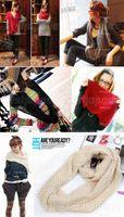 Wholesale Fashion Women Warm Knit Neck Circle Wool Cowl Snood Long Scarf Shawl Wrap ax30