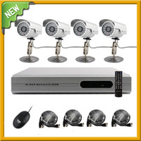 Wholesale Ultra Low Price CH CCTV DVR Kit CCTV Security System H Outdoor Waterproof Color Cameras