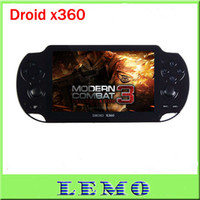 Wholesale Game Console Droid X360 with Android Touch Screen Cortex A8 GHz Cortex A8 G G WIFI