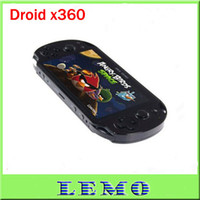 Wholesale Hot Game Console X360 with Android Touch Screen Cortex A8 GHz Cortex A8 G G WIFI