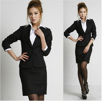 Women's spring coats - Fashion Women s Formal Suit Coat Black dress Spring and autumn OL Coats for lady business suit