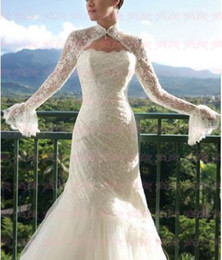 Wholesale Long Sleeves Elegant Lace Shrug Jacket Bolero Wedding Wrap WDS040116