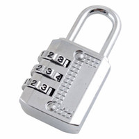 Wholesale 3 Dial Portable Luggage Lock Combination Padlock Silver
