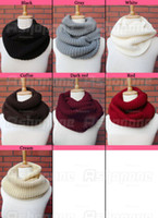 Wholesale 10 New arrivals Winter Warm Infinity Circle Cable Knit Cowl Neck Long Scarf Shawl ax33