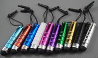 оптовых mini stylus touch pen-Мини емкостный сенсорный экран Стилус Пластиковые Ручки 11 цветов для мобильного телефона планшетных ПК