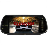 Monitor TV Roof 7 Inch MP5 SD USB Player FM Remote Controller Rearview Mirror Car Monitor