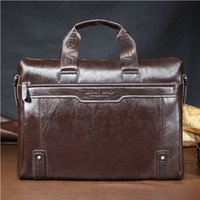 Wholesale Hottt Hot Classic design Mens Retro Hand bags Briefcase Shoulder bag for quot laptop