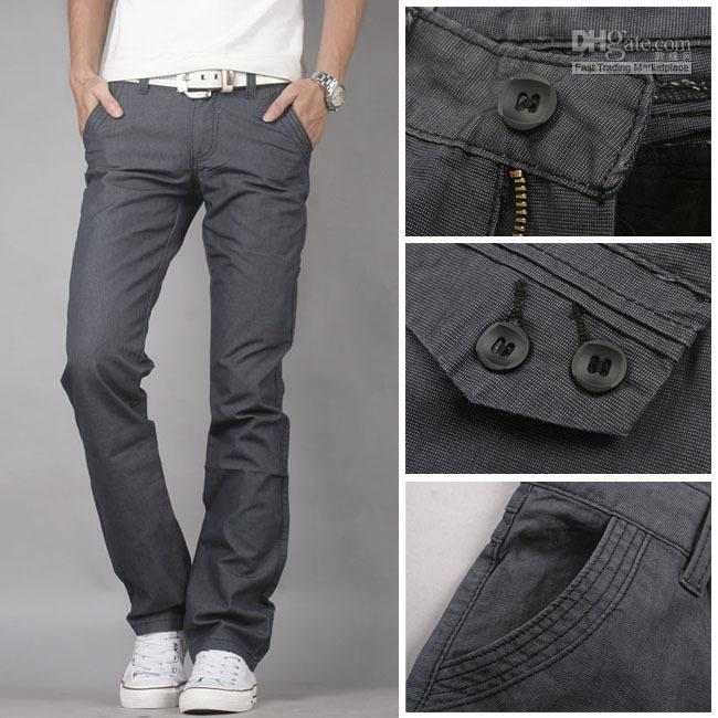 2017 Jeans Hot! Men Korean Hitz Ma Gray Men Slim Low Waist Casual ...