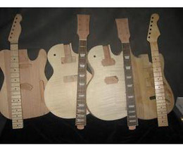 Wholesale 4 High Quality Unfinished Electric Guitar Bodys Necks