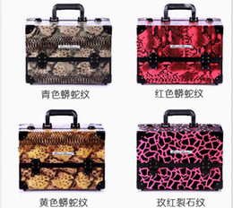 Wholesale Multi layer cosmetics box folding makeup case big bags mix colors high quality tools jewelry cases