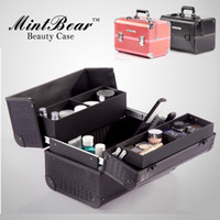 Drawer   Professional large cosmetic box suitcase make-up case makeup tools jewelry Crocodile pattern bags