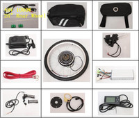 Wholesale 26 quot Rear Wheel LCD Screen New Electric Bicycle Conversion Kits V W E bike Brushless Motor