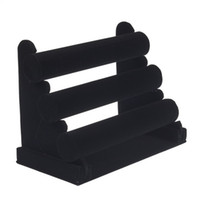 Wholesale hot selling Black big size bracelet watch Jewellery Display Tier Stand jewelry holder