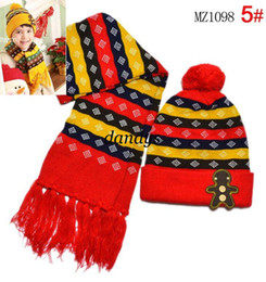 Wholesale New Cartoon villain design hat scarf Boys and girls Hat scarf two piece set christmas gifts