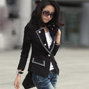 Fashion Women Coat Western White Coats Autumn Long Sleeve Suit