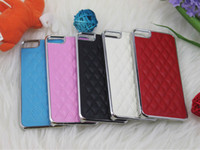 Wholesale Electroplate Chrome Sheep Skin Leather Case Back Cover Shell for Apple Iphone G