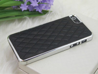 Wholesale AAA Quality Electroplate Chrome Sheep Skin Leather Case Back Cover Shell for Apple Iphone G