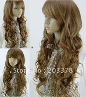 African-American Wigs best wig outlet wigs - Women Synthetic Wigs Long light brown Best Lace Hair Fashion Wig Factory Outlet Price