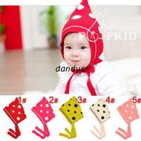 1-6years Crochet Hats Halloween New Jacquard dot elves children hats Children 's phoenix bucket Protection ear cap warm hat