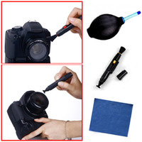Wholesale 14PCS in Lens Cleaning Cleaner Dust Pen Blower Cloth Kit For DSLR VCR Camera Canon AB51