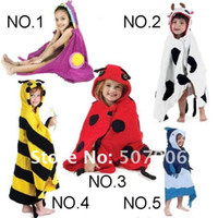 Wholesale Animal Designs Top Baby Bathrobe Kids Bath Gown Bathing Robes Modeling Swimming Towel