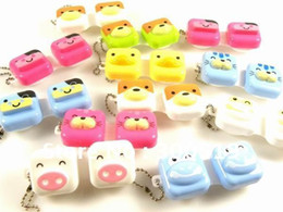 Wholesale New Square Shape Animal Contact Lens Case animal Lenses Box Color Cute Contact Cartoon Glasses box