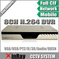 al por mayor d dvr-Envío libre vía el poste de HK correo aéreo , H.264 8CH DVR con 3G Celular Vista con varios idiomas , CCTV D