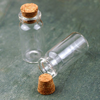 Wholesale 100X Clear Glass Wishing Bottle Vials With Cork MMX22MMX18MM Free Shiping