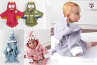 Wholesale NEW Children cute colors animal cartoon modeling bathrobe fashion_house