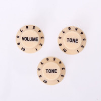 Wholesale Set of Speed Volume Tone knob w White Detail for Electric Pickup Guitar