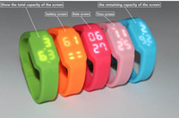 Wholesale 8 colors GB NEW LED watch wristband USB Flash memory drive