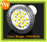 Wholesale GU10 SMD5630 Led Spotlight W Super Bright Led Lamp LM V Pure Whit Led Lamp Bulbs