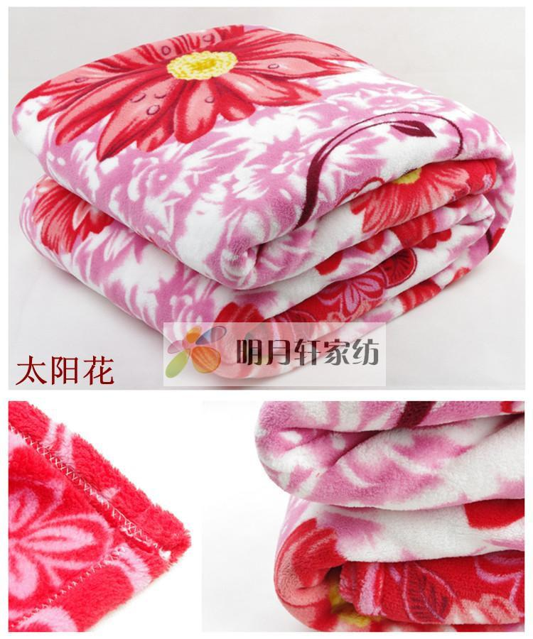 Warm Blanket For Winter Red flower flannel winterWarm Blanket For Winter