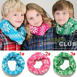 Wholesale WJ19 Fashion gifts Baby scarf children scarf winter warm Knitted scarves Merry Christmas Jacquard s