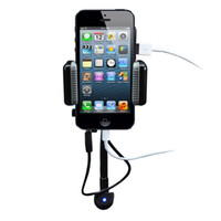 Wholesale ALLKIT All in1 FM Transmitter Hands Free Holder Charger for iphone5
