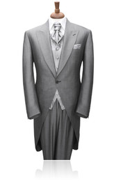 Morning Style Custom-tailor Groom Tuxedos Bridegroom Best Man Suits (Jacket+Pants+Tie+Vest) G540