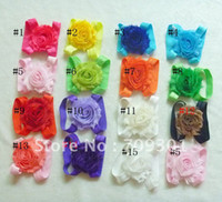 Wholesale 50 pair new style Shabby Flower foot flower baby sandals walker shoes Barefoot Sandals fre