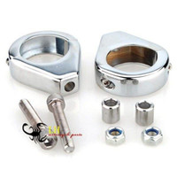 Wholesale TURN SIGNAL RELOCATION FORK CLAMPS PAIR FOR HARLEY MM