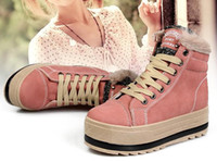 Lace-Up Women Winter New fashion sweety princess high-top heavy-bottomed female skateboard tide casual shoes EU35-39