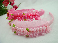 Wholesale Pearl Flower Hair Hair Band Bud Silk Children s Hair Hoop Head Band