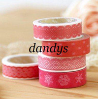 Wholesale Freeshipping New High quality lace washi masking tape flower dots checks adhesive tape DIY stick